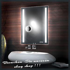 39 passpower 39 kosmetikspiegel uhr neu design led spiegel mit leduhr badspiegel ebay. Black Bedroom Furniture Sets. Home Design Ideas