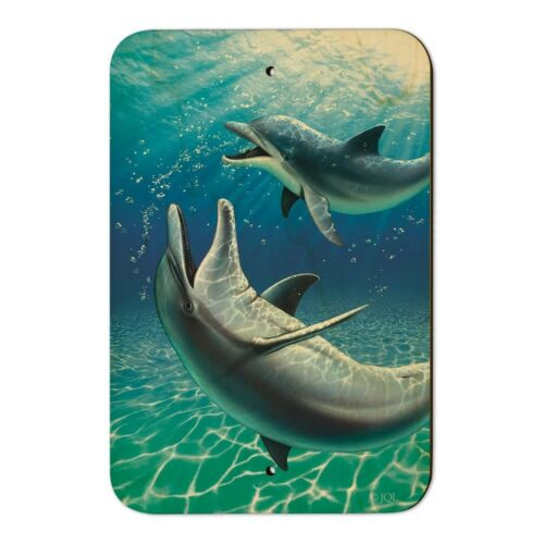 Dolphin and Baby Having Fun Ocean Home Business Office Sign