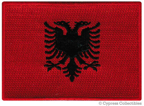 ALBANIA FLAG embroidered iron-on PATCH ALBANIAN EMBLEM applique souvenir