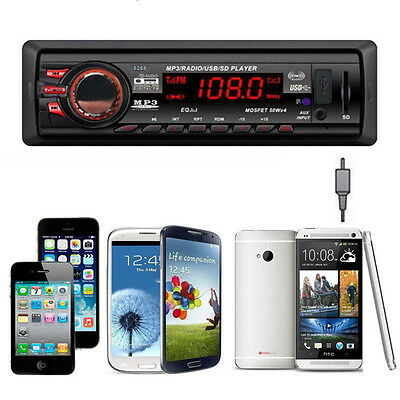 In Dash Car Audio Bluetooth Stereo Head Unit MP3/USB/SD/AUX/FM Input 4-channel