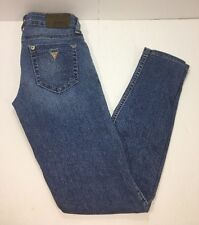 GUESS LA Jeans Size 26 Power Ultra Skinny Stretch Distressed Blue Jeans