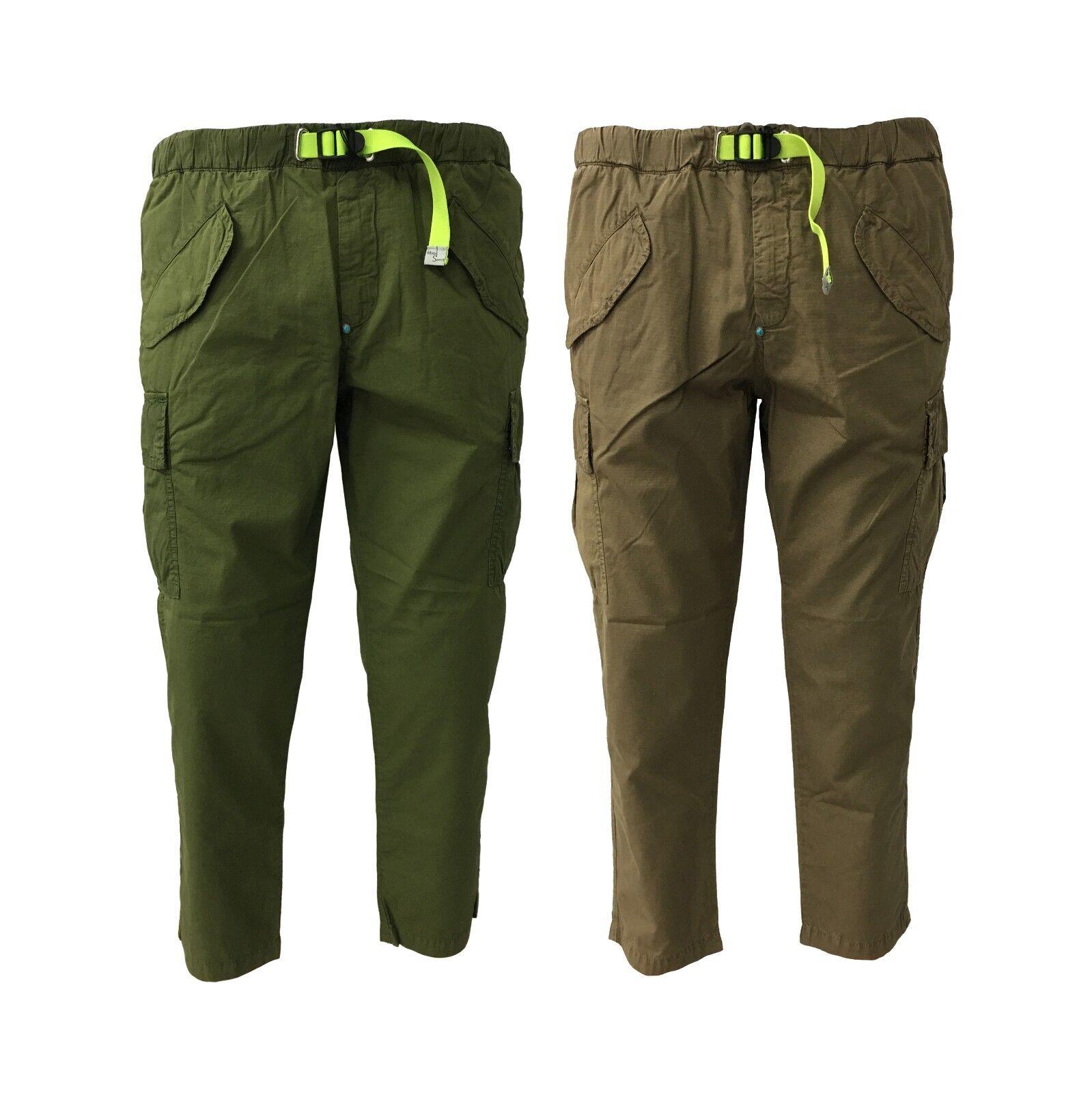 bianca SAND pantalone uomo con tasconi mod 18SU15 280 100% cotone
