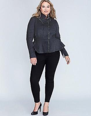 Lane Bryant Faux Fur Collar Lady Coat 14//16 18//20 22//24 26//28 1x 2x 3x 4x