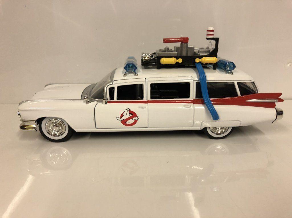 Ghostbusters Car Ecto 1 Model Diecast Metal Car, Jada  1/24 Scale