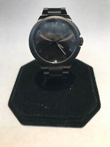 16632fd58323 La foto se está cargando Reloj-de-pulsera-Swarovski-ciudad-Negro -Acero-Inoxidable-