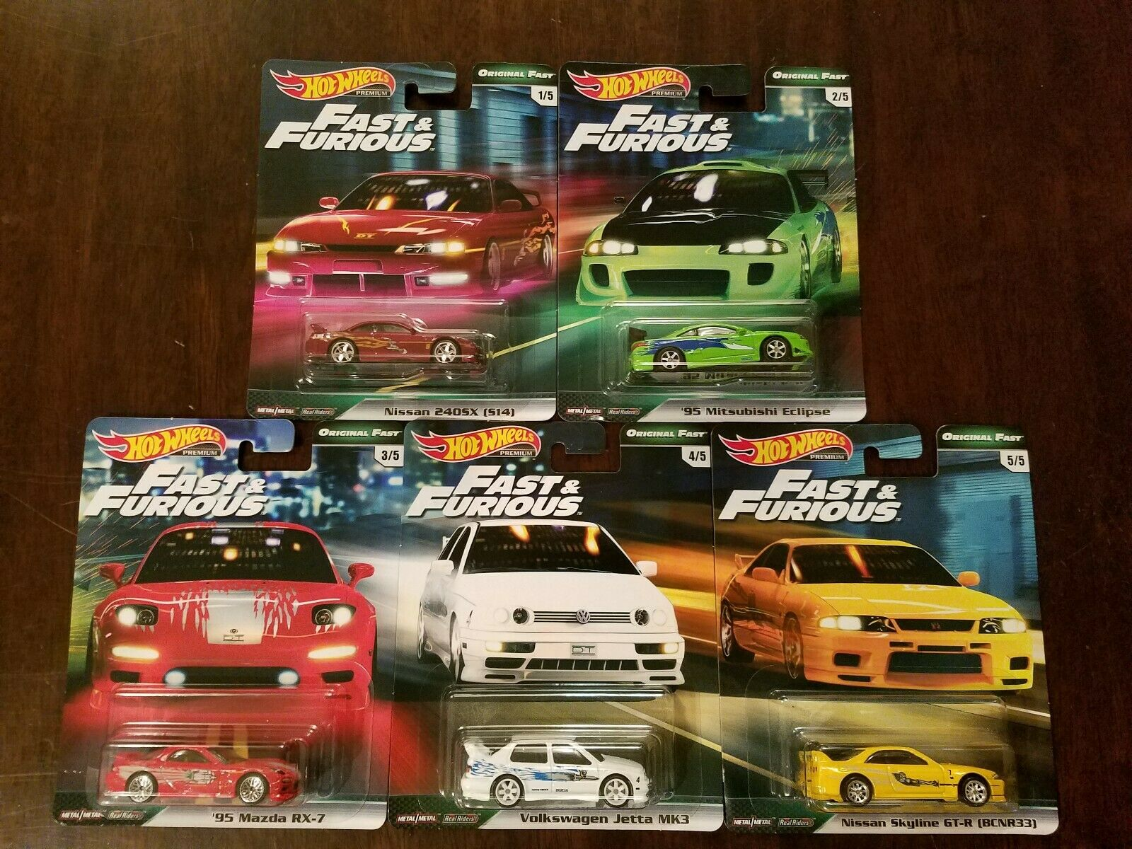 Hot Wheels 2019 Premium Original Original Original Fast & Furious Complete Set (Lot of 5) NEW 04d92a