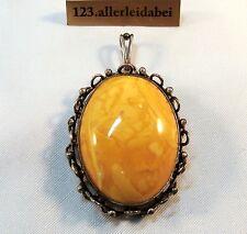 Rar großer Butterscotch Bernstein Anhänger 835 Silber old amber / AZ 805