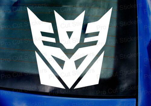Decepticons Groß Transformers Custom Wandkunst Auto Stoßstange Fenster Aufkleber