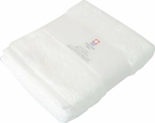 Japanese Imabari Bath Face Towel Cotton 100/% 85 x 34cm White Made in JAPAN