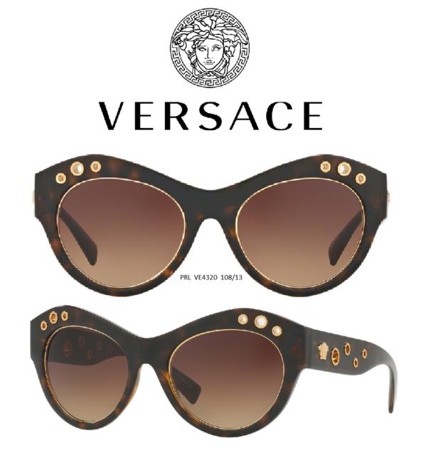 8c20ffcfcaa3 Versace Womens Sunglasses VE4320 108/13 Dark Brown Frame 100% Authentic &  New