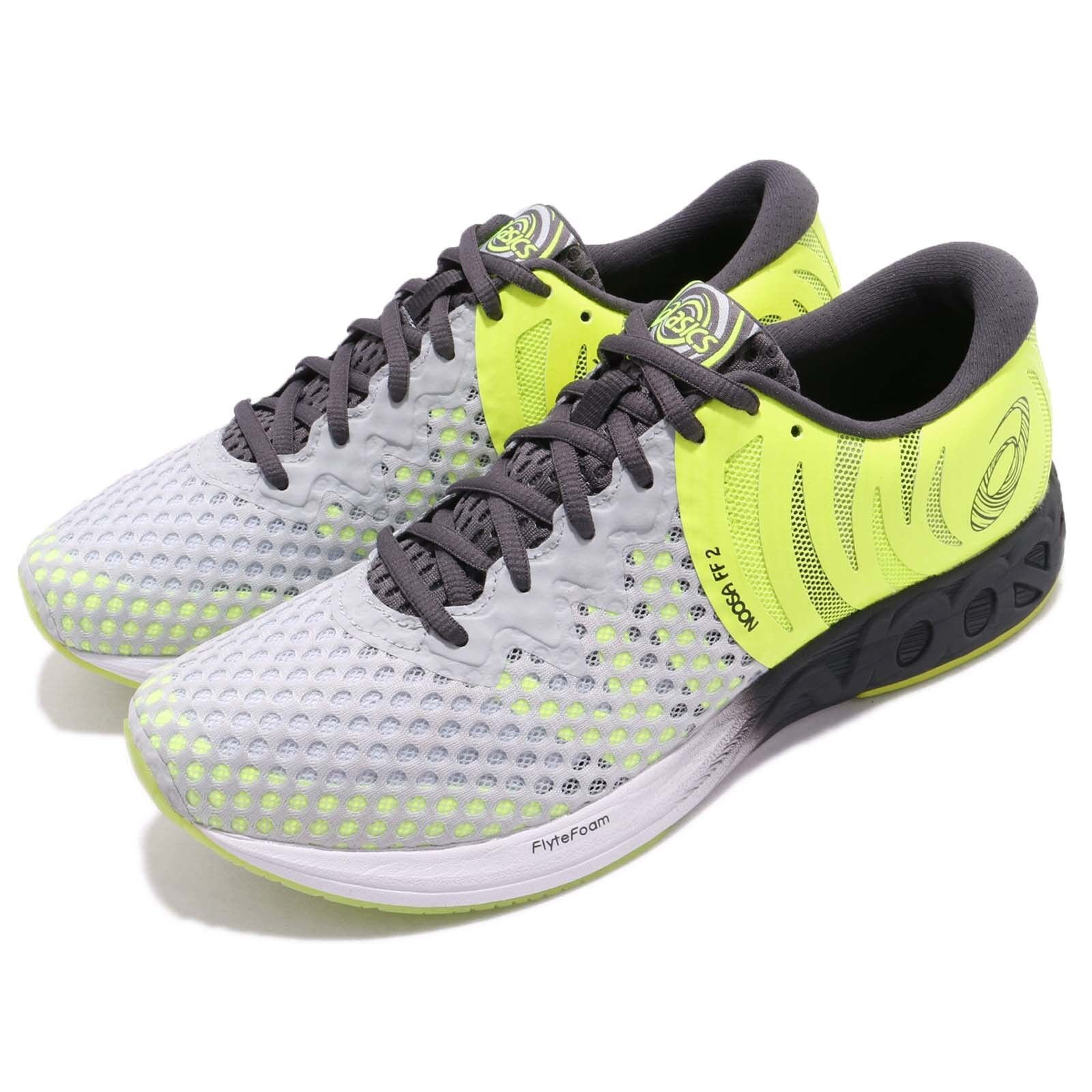 Asics Noosa FF 2 II Grey Yellow White Men Gear Fast Running shoes T819N-9695