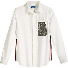 Adidas Originals Adventure Zip Pocket Button-Down Shirt White/Camo Size L M69342