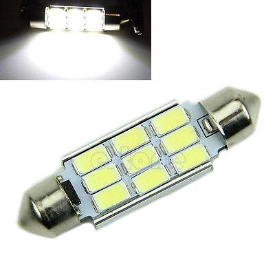 12V White 41MM  5630-9SMD Canbus Error Free Festoon Dome LED Light Roof Bulb