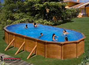 Piscina fuori terra gre pacific ovale 730x375 cm pannello - Scala per piscina fuori terra ...