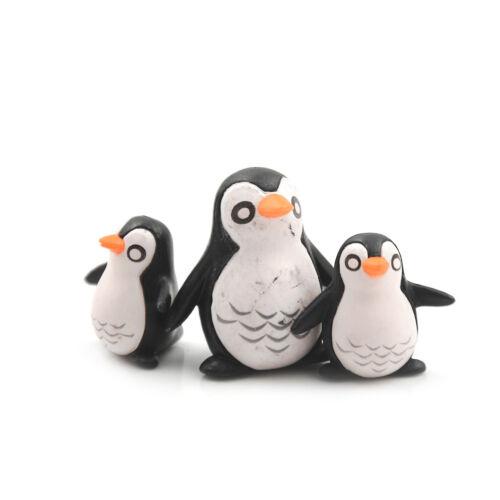 5X DIY Pinguin Ornamente Miniatur Gartenarbeit Dekoration Puppenhaus Mini CNCN