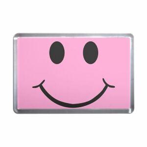 55mm Fridge Magnet Bottle Opener BadgeBeast Pink Smiley