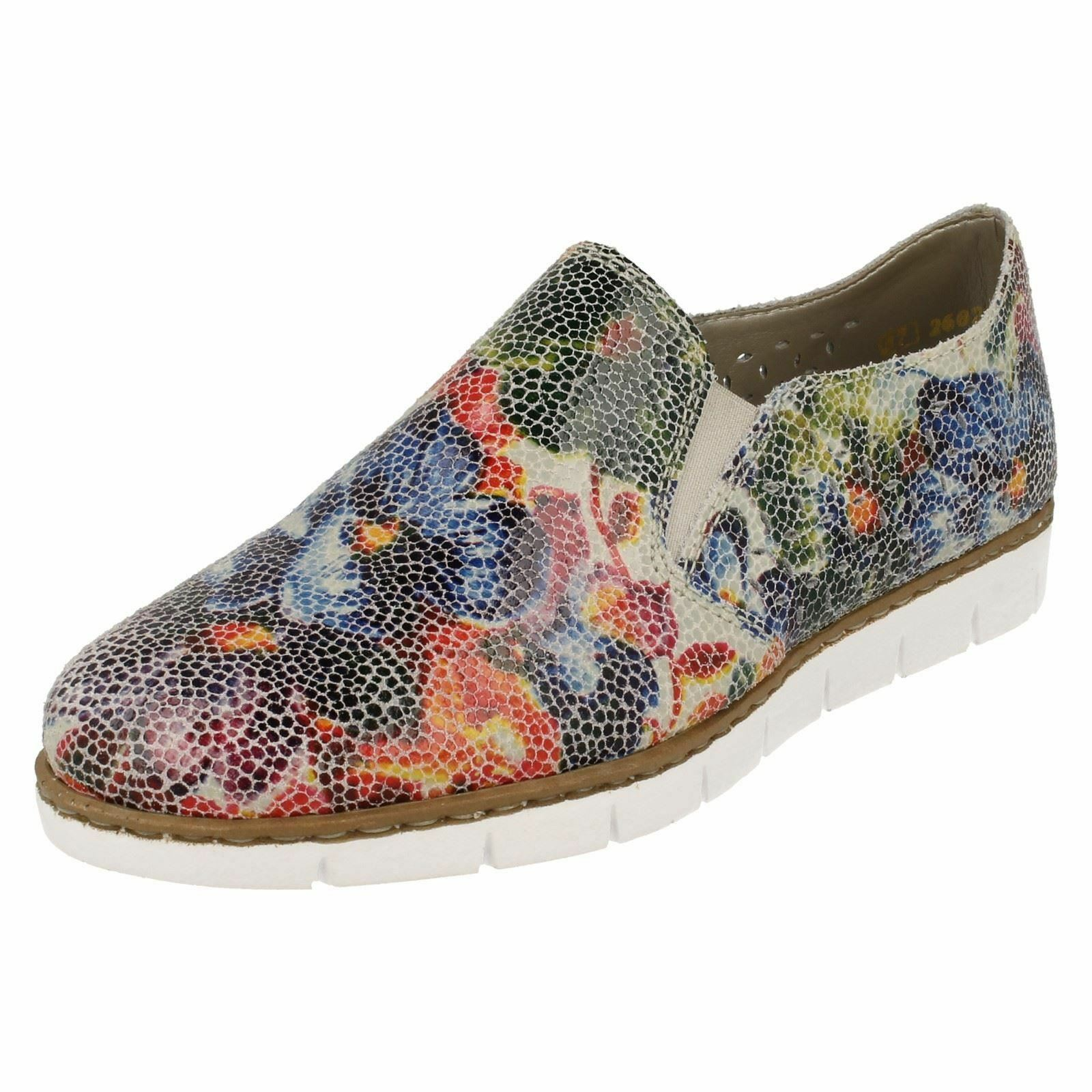 Onorevoli Rieker M1356 MULTI-COLOUR pattern in Pelle Casual Mocassini Scarpe