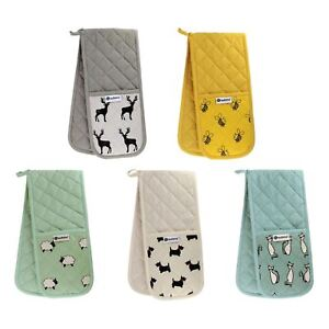 Animal-Printed-Double-Oven-Gloves-Heavy-Duty-100-Cotton-Heat-Resistant-Mitts