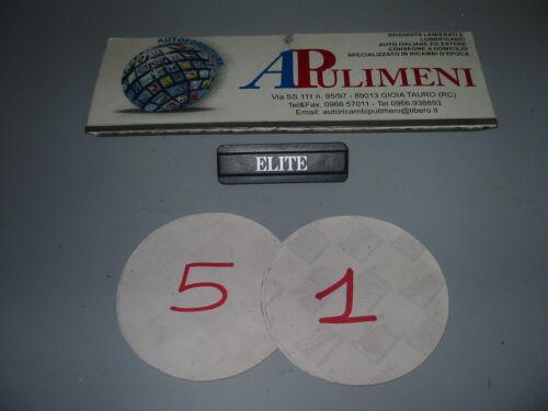"""ELITE"" LATERALE A-112 MOD BADGE 83 507-83 FREGIO-LOGO-SIGLA-SCRITTA"