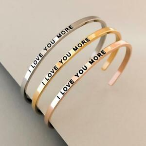 6978eba4052 Image is loading PERSONALIZED-Cuff-Bracelet-MANTRA-Inspiration-Quote- ENGRAVED-039-