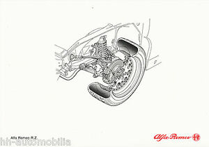 0333AL-Alfa-Romeo-RZ-Zagato-Bildprospekt-1992-Vorderradaufhaengung-Prospekt