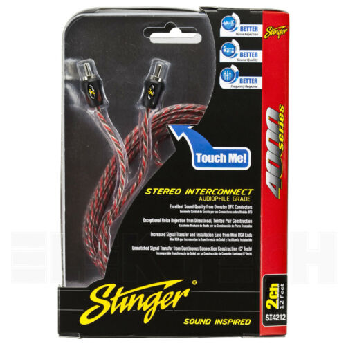 Stinger SI4212 RCA Interconnect Audio Cable 2 Channels 12 ft 4000 Series Stereo