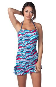 3fccca0d30c77 Image is loading Panache-Tilly-Halter-Strapless-Long-Dress-Tankini-Swim-