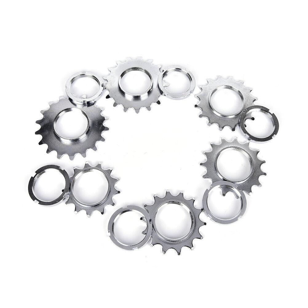Bike Chain Rings Single Speed Wheel Sprocket Fixed Gear Bicycle Freewheel new.