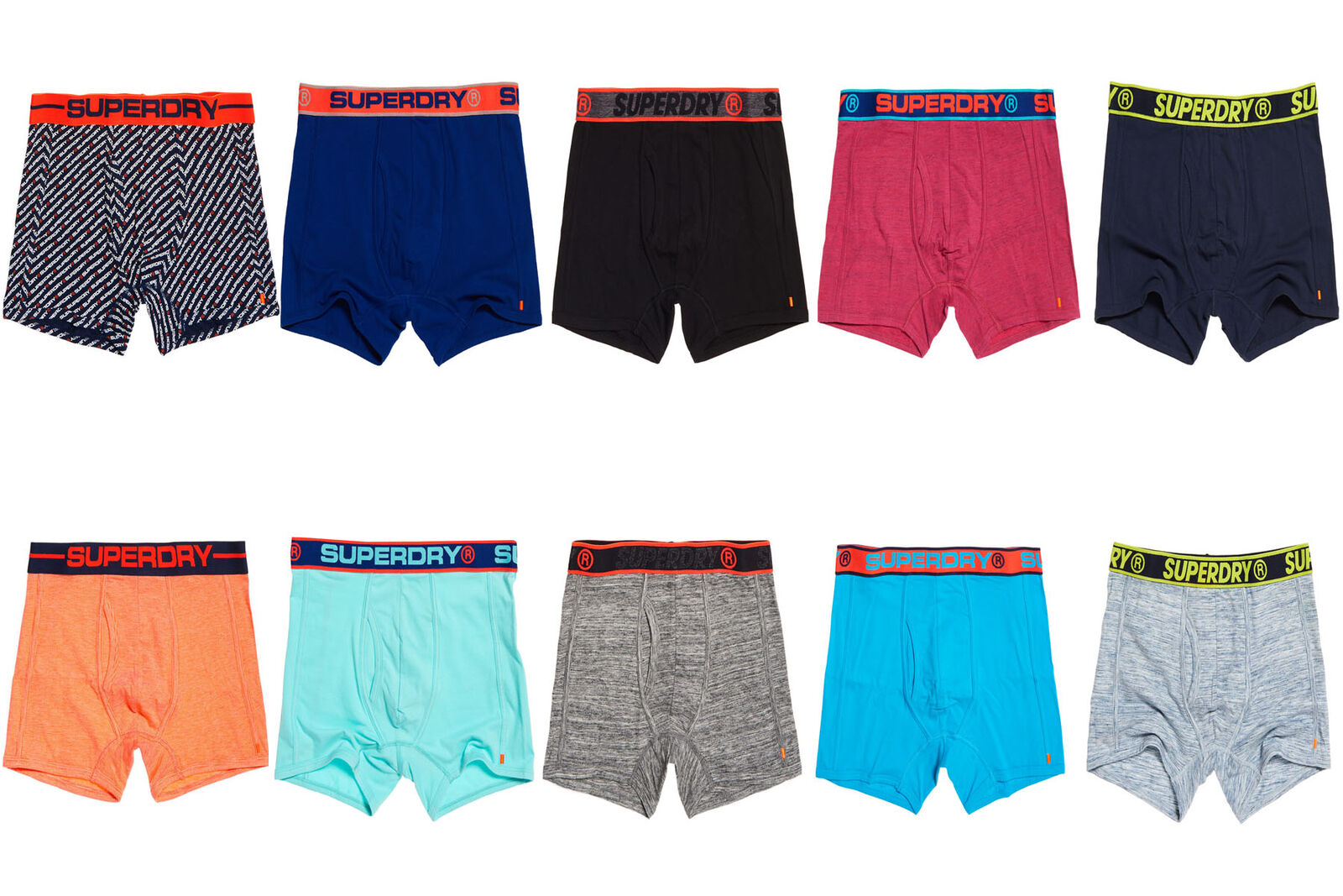 Superdry Mens Sports Boxers Double Pack