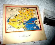 L3 CARTOON MAP OF VENETO BY AGOSTINI MENU CRUISE SS BRASIL NEW YORK  P LIST 1950