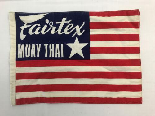 RARE! Fairtex USA Classic Muay Thai Flag Very Limited Quantity Made In 1980's