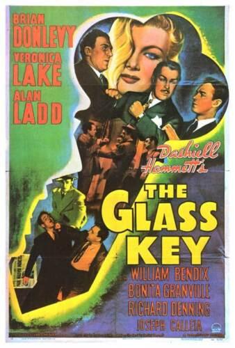 GLASS KEY Movie POSTER 27x40 B Brian Donlevy Veronica Lake Alan Ladd Bonita