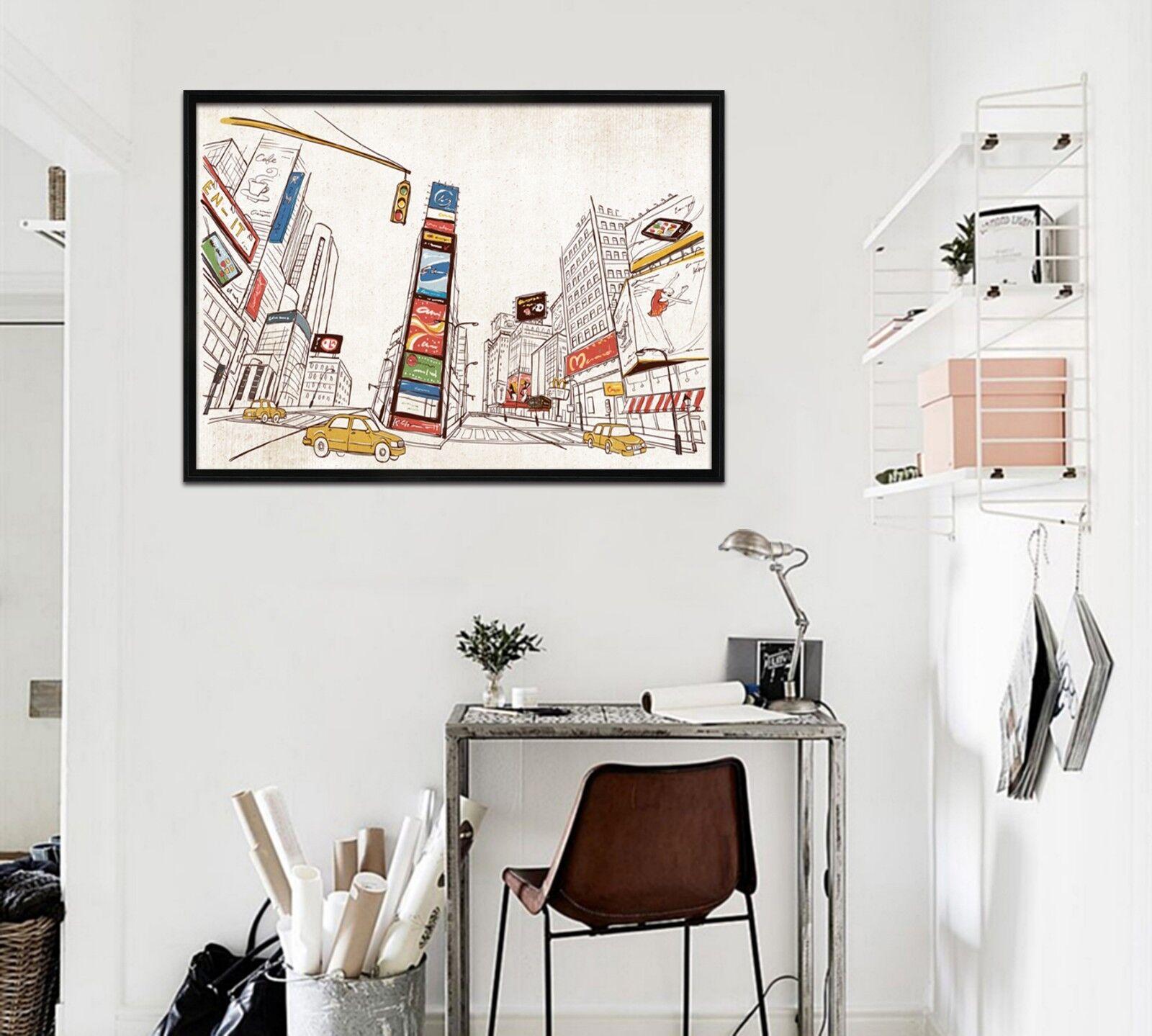 3D luz de tráfico 67 Póster Enmarcado Decoración del Hogar Pintura de Impresión Arte AJ Wallpaper