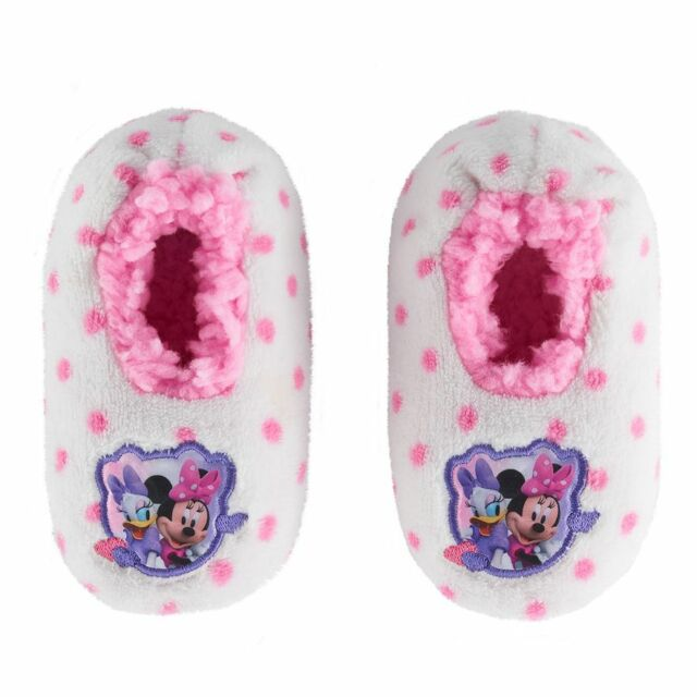 GIRLS DISNEY INDOOR SHOES MCSTUFFINS DOC DAISY RIPTAPE STRAP HOUSE SLIPPERS