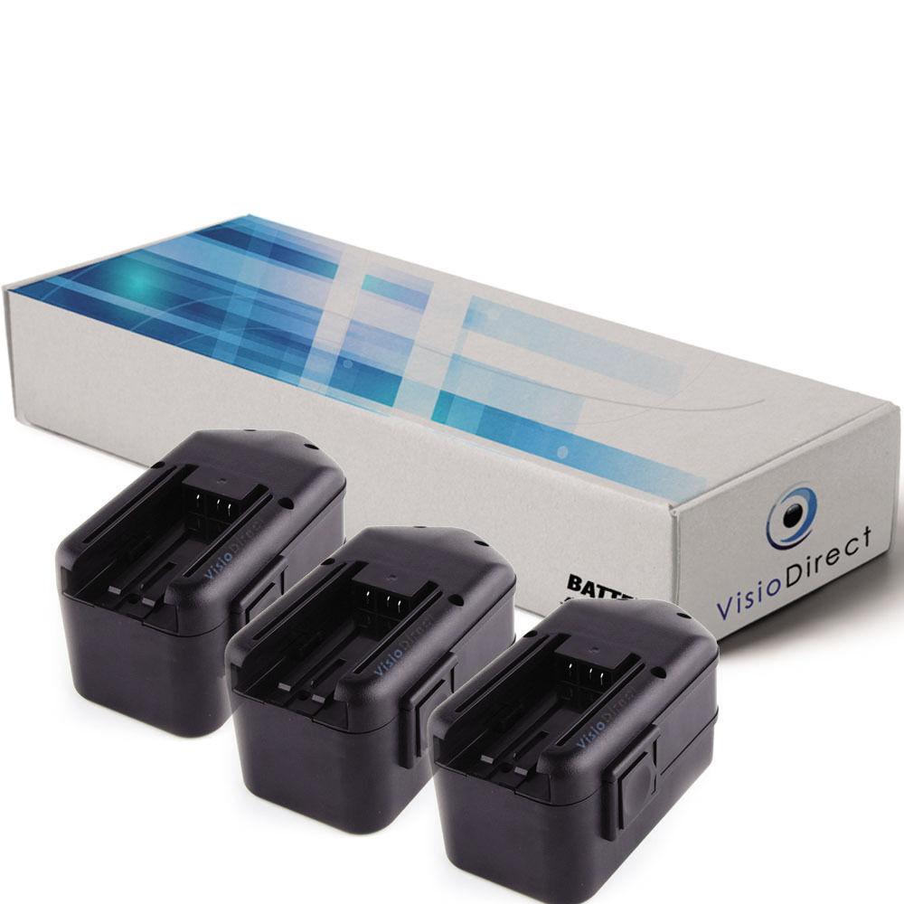 Lot de 3 batteries 18V 3300mAh pour Milwaukee 1109-20 - Société Française –