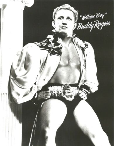 NATURE BOY BUDDY ROGERS 8X10 PHOTO WRESTLING PICTURE WWF