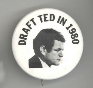 1980 Ted Kennedy President Campaign Button Political Pinback Pin Election