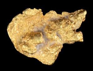 Genuine Calif. Alaska Natural Exotic Gold Nugget 3.04gr 16.57mm x 12.85mm Size