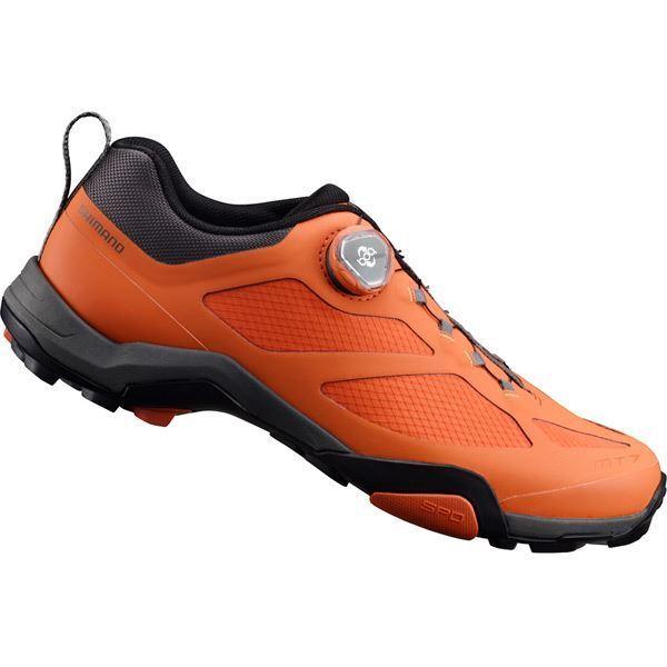 Shimano MT700 SPD MTB Schuhe, Orange, Größe 41