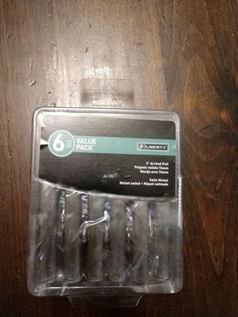 "Liberty Hardware P27507H-SN 3/"" Cabinet Bar Pull Satin Nickel"