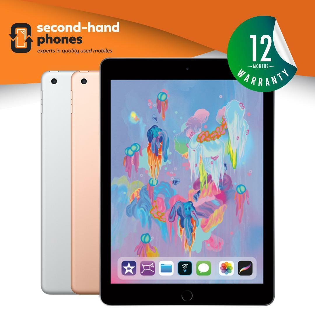 iPad: Apple iPad 6 – 9.7″ (6th Generation 2018) 32/128GB Wi-Fi or 4G Cellular Unlocked