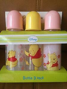 3-9oz Winnie The Pooh bottles New!