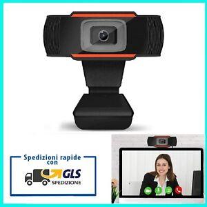 WEBCAM PC FULL HD 1080p CON MICROFONO PER VIDEOCHAT LEZIONE SMART WORKING SKYPE