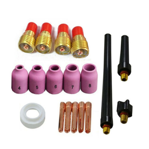 18PK Consumables TIG Nozzle Collets Body Kit for WP9 WP20 WP25 Welding Torch