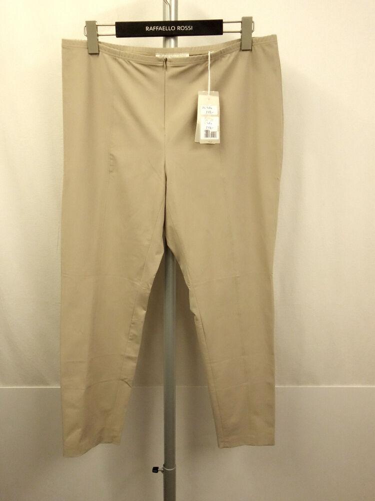 139 € Nouveau Raffaelo Rossi Giga 7/8 Pantalon Stretch T. 46 Pants Beige