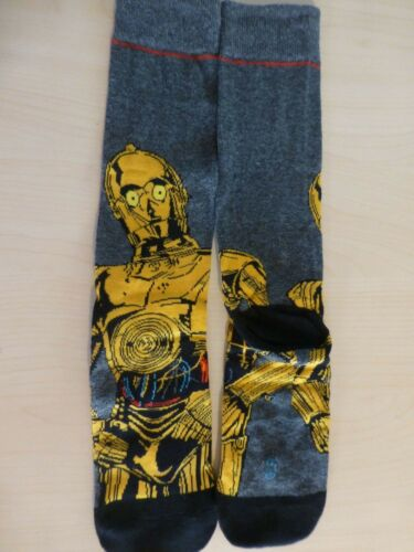 C3-PO Star Wars Unique Paire De Homme Garçons Chaussettes Taille Adulte 6-8 Bday Cadeau