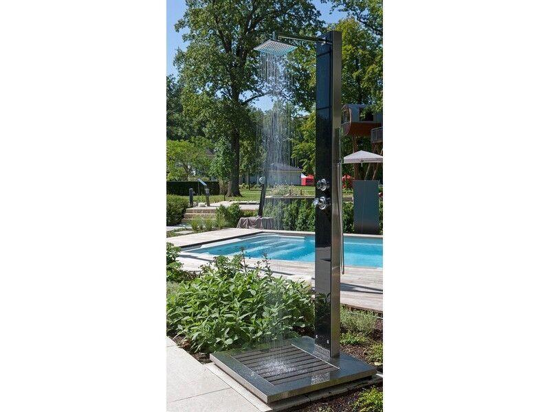 DOCCIA da giardino Cuba ideale querce foresta DOCCIA da giardino piscina doccia fredda e acqua calda