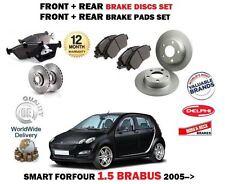 Per SMART FORFOUR 1.5 Brabus 2005 - > Anteriore + Posteriore Dischi Freno Set + KIT DISCO PASTIGLIE