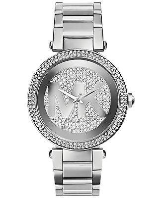 New MICHAEL KORS PARKER MK5925 Silver Crystal Glitz MK Logo Dial Women Watch 796483082472 | eBay