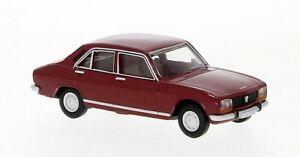 BREKINA 1:87 29119 1961 Peugeot 504, Rouge Foncé - Neuf